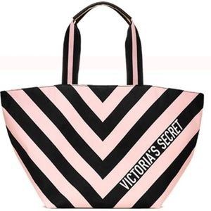 Handbags - Victoria Secret Pink and black Large tote NWT